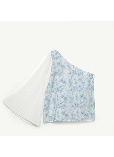 Yargıcı Kadın Plise Kollu Bluz 0YKGM6175X Mavi